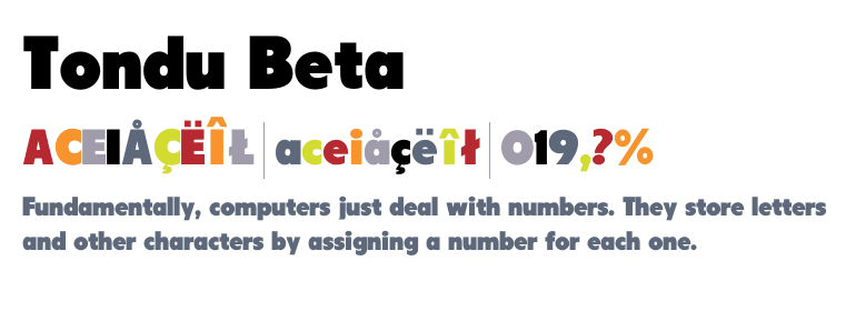 Tondu Beta – Free Font Friday by Fonts.com