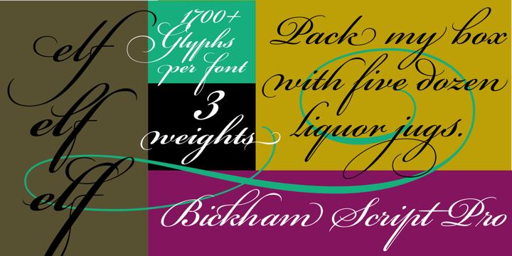 Bickham Script Pro