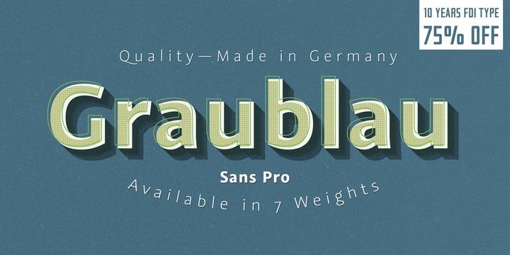 Graublau Sans Pro