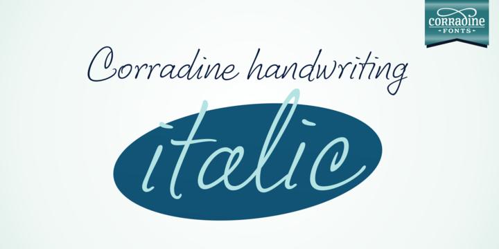 Corradine Handwriting Italic