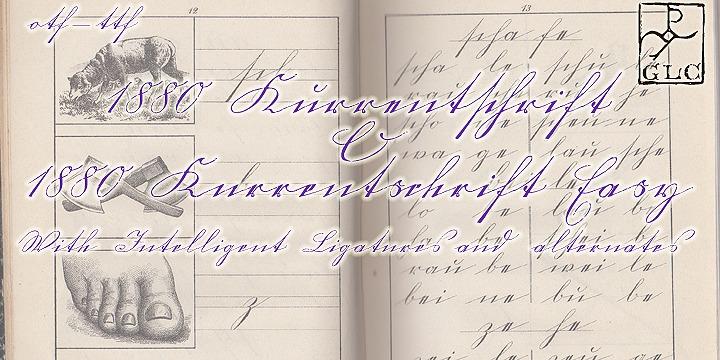 1880 Kurrentshrift