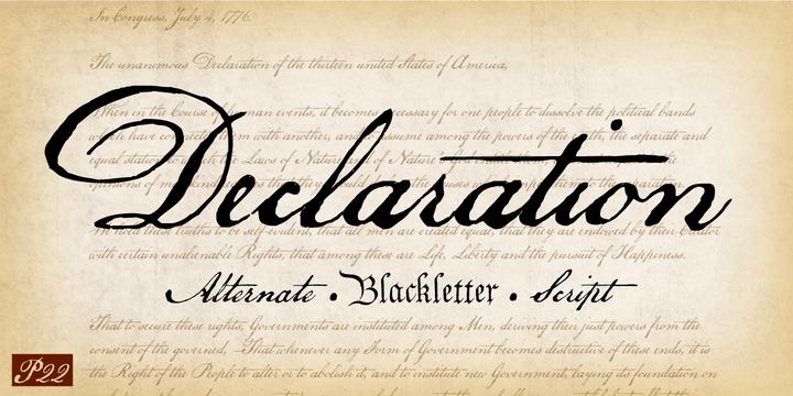 P22 Declaration