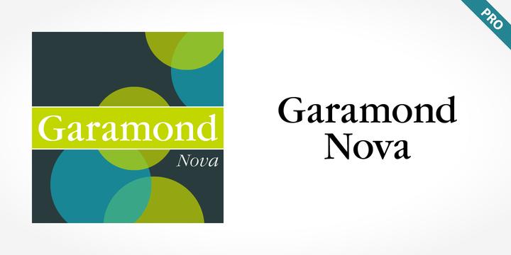 Garamond Nova Pro