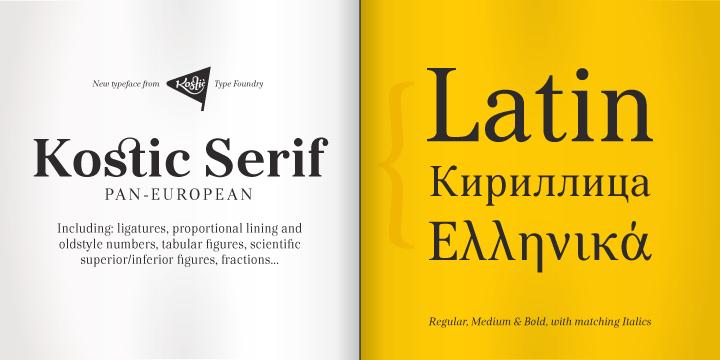 Kostic Serif