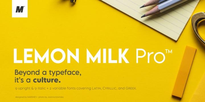 Lemon Milk Pro